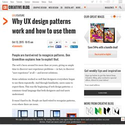 Why UX design patterns work and how to use them