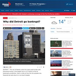 Why did Detroit go bankrupt?