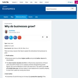 3.9.1 Why do businesses grow?
