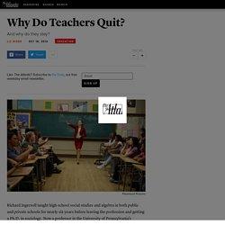 Why Do Teachers Quit? - Liz Riggs