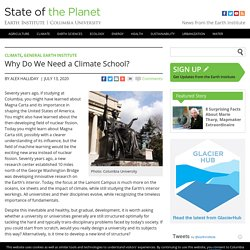 Why Do We Need a Climate School?