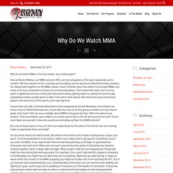 Why Do We Love Watching Martial Arts?