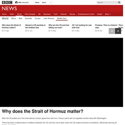 Why does the Strait of Hormuz matter?