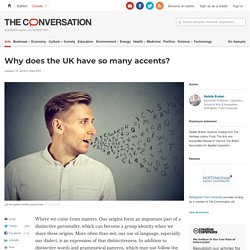 Why does the UK have so many accents?