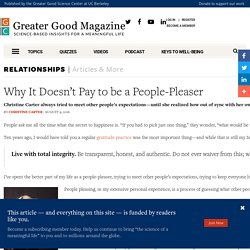 Why It Doesn't Pay to be a People-Pleaser