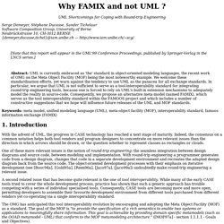 Why FAMIX and not UML ?