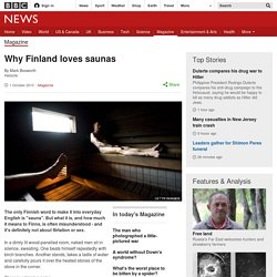 Why Finland loves saunas