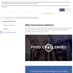 Why Food Science Matters