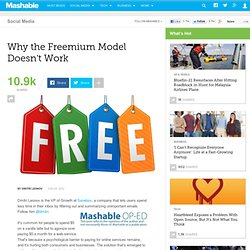Why The Freemium Model Doesn't Work