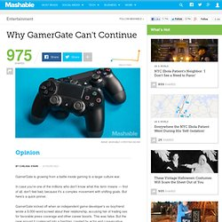 Why GamerGate Can't Continue