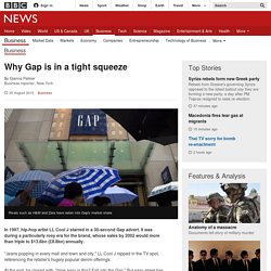 Why Gap is in a tight squeeze - BBC News
