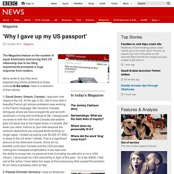 'Why I gave up my US passport' - BBC News