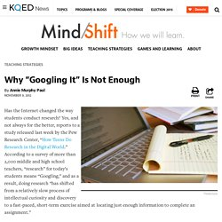 "Why ""Googling It"" Is Not Enough"