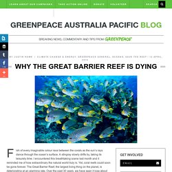 Why the Great Barrier Reef is Dying