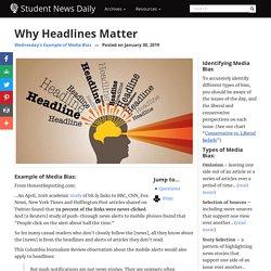 Why Headlines Matter