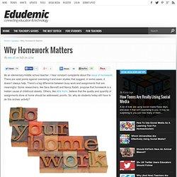 Why Homework Matters