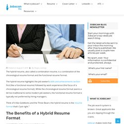 Why the Hybrid Resume is the Best Resume Format