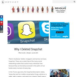 Why I Deleted Snapchat