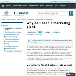 Why do I need a marketing plan?