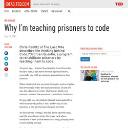 Why I'm teaching prisoners to code