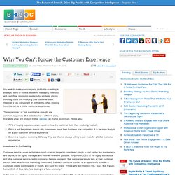 Why You Can't Ignore the Customer Experience