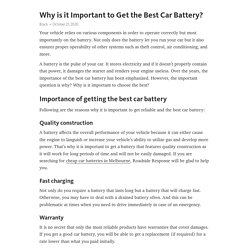 Cheap Car Batteries in Melbourne