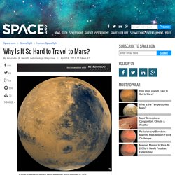 Why Is It So Hard to Travel to Mars?