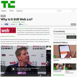Why Is It Still Web 2.0?