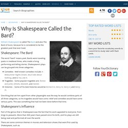 Why Is Shakespeare Called the Bard?