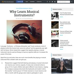 Why Learn Musical Instruments?