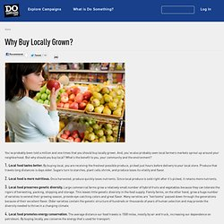 Why Buy Locally Grown?