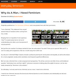 Why As A Man, I Need Feminism