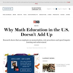 Why Math Education in the U.S. Doesn't Add Up