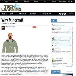 Why Minecraft