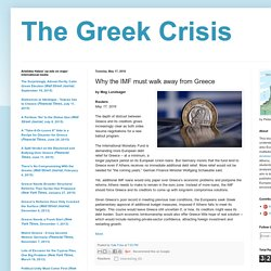 Why the IMF must walk away from Greece