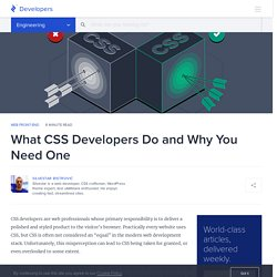 Why You Need a Dedicated CSS Developer