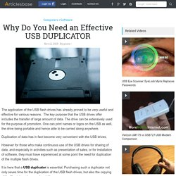 Why Do You Need an Effective USB DUPLICATOR