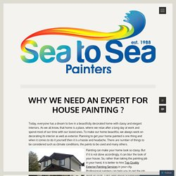 Why We Need an Expert for House Painting ?