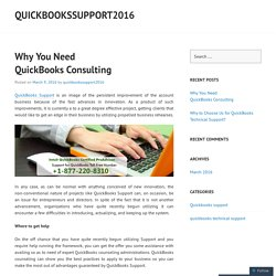 Why You Need QuickBooks Consulting