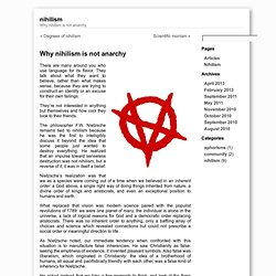 Why nihilism is not anarchy « Nihilism