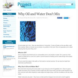 Why Oil and Water Don't Mix