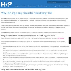 """Why H5P.org is only meant for """"test-driving"""" H5P"""