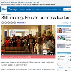Why only 14% of top execs are women - Mar. 24, 2015