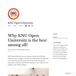 Why KNU Open University is the best among all? – KNU Open University