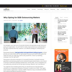 Why Opting for B2B Outsourcing Matters