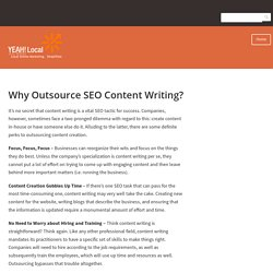 Why Outsource SEO Content Writing?