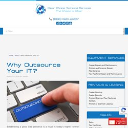 Why Outsource Your IT?