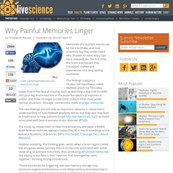 Why Painful Memories Linger