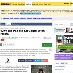 Why Do People Struggle With Math?