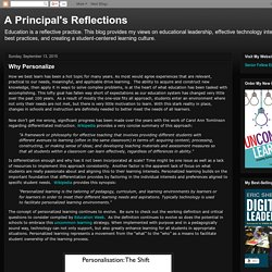 A Principal's Reflections: Why Personalize